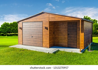 Garage concept on the countryside
