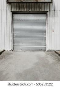 Garage door at a huge building