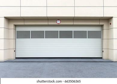 Garage Door. Modern Garage in Cracow, Poland