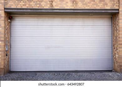 Garage Door. Roller shutter garage door