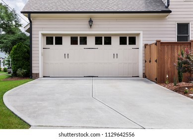 Garage door to single family home