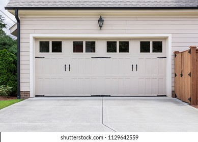 Garage door to single family home