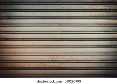 garage door stripped texture ; metal background