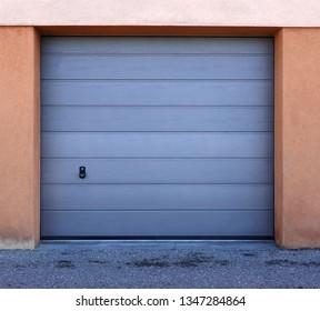 Garage doors closed