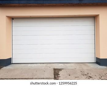 Garage with roller gate roller shutters