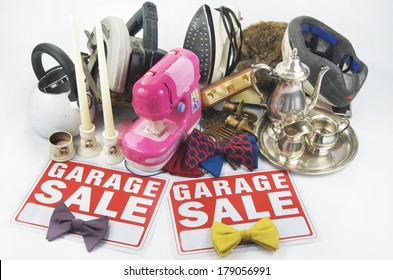 Garage Sale Items And Signs