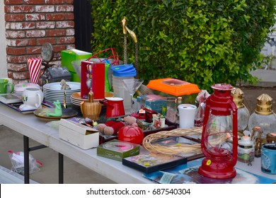 Garage sale  yard sale unnecessary decor items and things for home