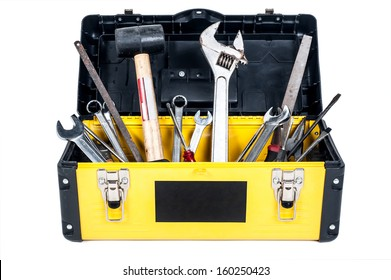 Garage tool box work in isolated