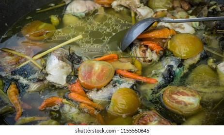 garang asem or asam traditional fish food from indonesia central java pekalongan