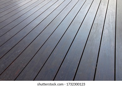Garapa terrace decking after some years with regular maintenance
