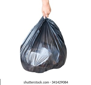 Garbage bag isolate on white background.This has clipping path