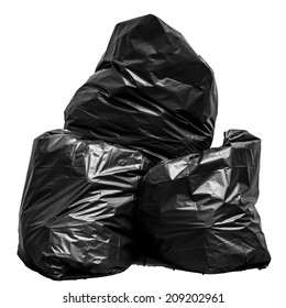 Garbage bag isolated on white background