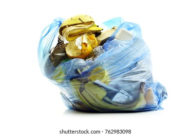 Garbage bag isolated on white