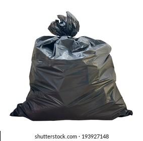 Garbage bags  on white