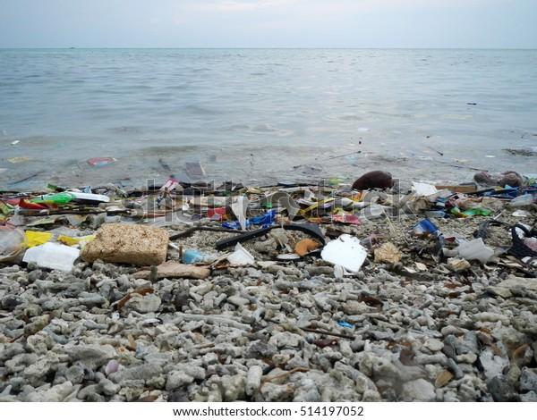 Garbage in beach