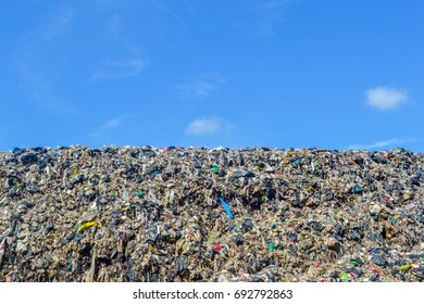 Garbage with beautiful sky background