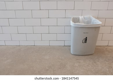 Garbage bin in the kitchen, cleaning concept