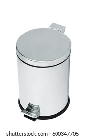 Garbage bin of steel stainless with opening pedal