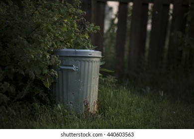 Garbage Can Outside