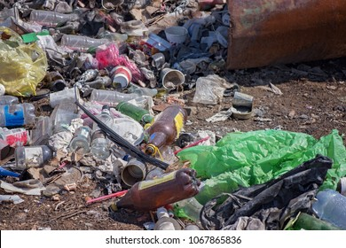 A garbage dump. Environmental pollution. Ecological problems