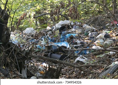Garbage dump in the wild, World Environment Day Concept