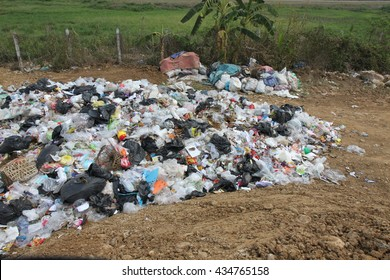 garbage in landfill