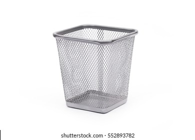 garbage on the white background