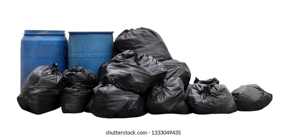 garbage pile lots dump, many garbage plastic bags black waste isolated white background, pollution from trash plastic waste garbage, bags bin of plastic waste, pile garbage waste, lots junk dump, 3r