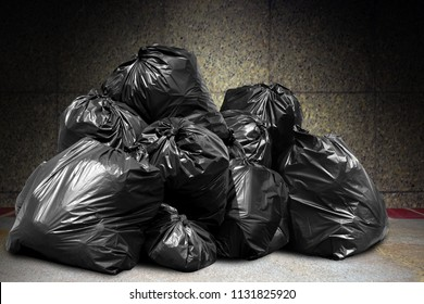 garbage is pile lots dump trash, many garbage plastic bags black waste at concrete wall, pollution from trash plastic waste garbage, bags bin of plastic waste, pile of garbage waste, lots of junk dump