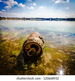 garbage polluting the natural environment, pollution, nature series