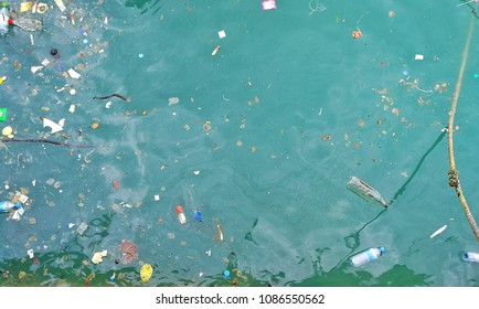 Garbage in the sea water