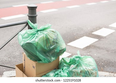 garbage in the street