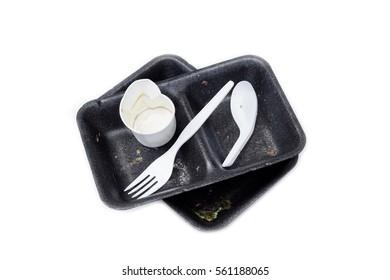 Garbage from take away food.