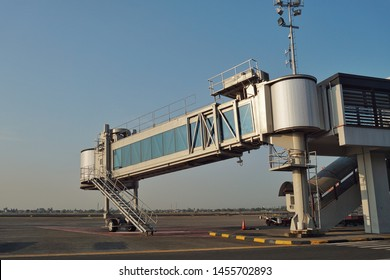 Garbarata or jet bridge is an enclosed, movable connectorwhich most commonly extends from an airport terminal gate to an airplane.