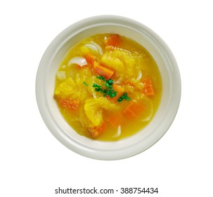 garbuzok Belarusian pumpkin soup