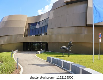 GARCHING, GERMANY - JULY 26, 2018 The new Supernova Planetarium of ESO (European Southern Observatory)  located in Garching, Germany provides visitors with an immersive experience of astronomy.