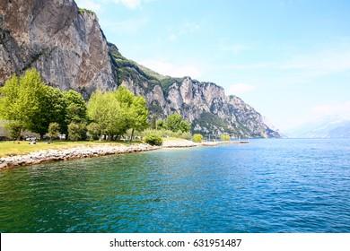 Garda lake, view from campione del Garda