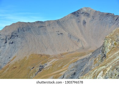 The Garde de Bordon above Zinal in the Val d'Anniviers in the Southern Swiss Alps
