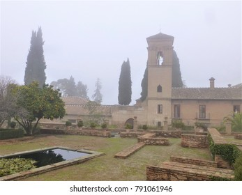 The garden of the Alhambra palace