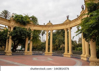 garden with beautiful arches - Spain Seville