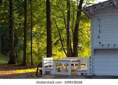 Prime Cottage Garden Bench Images Stock Photos Vectors Ibusinesslaw Wood Chair Design Ideas Ibusinesslaworg