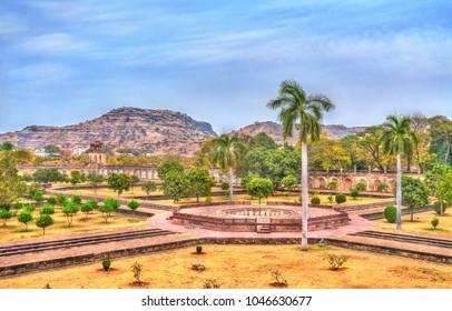 Garden of Bibi Ka Maqbara, also known as Mini Taj Mahal. Aurangabad - Maharashtra, India