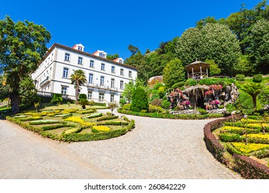 Garden at Bom Jesus do Monte is a Portuguese sanctuary near Braga, Portugal