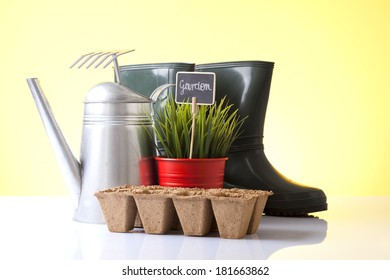 Garden boots with tools