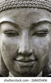 Garden buddha Statue detail background