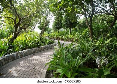 garden by the seaside