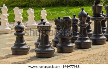 Garden Chess Setup
