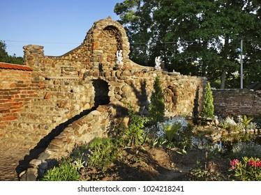 Garden of church of Jude Thaddaeus in Luchaj. Vitebsk oblast. Belarus