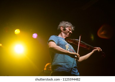 GARDEN CITY, IDAHO - JULY 26, 2016: David Ragsdale from Kansas up on stage with his violin