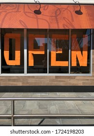 Garden City, New York, USA - May 4, 2020: Open Store Sign